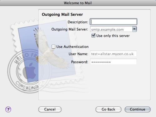 Mac Mail Setup Wizard - Step 5