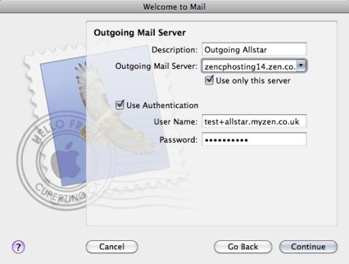 Mac Mail Setup Wizard - Step 6